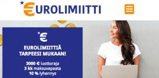 eurolimiitti kokemuksia 2019