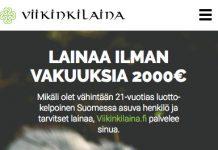 Viikinkilaina kokemuksia