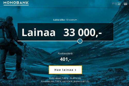 lainaa norjasta monobank